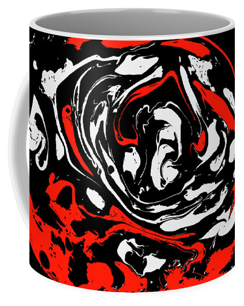 Marble Coffee Mug featuring the painting #12 by Alina Debris