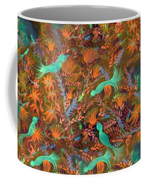 Flower Coffee Mug featuring the digital art Birds Symphony by Sandrine Kespi