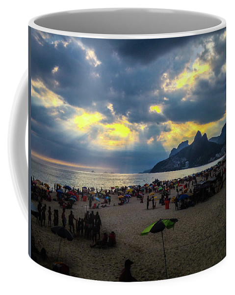 Ipanema Coffee Mug featuring the photograph Ipanema Beach by Cesar Vieira