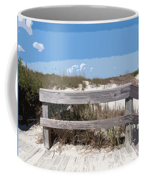 Florida Coffee Mug featuring the painting Jetty Park On Cape Canaveral In Florida by Allan Hughes