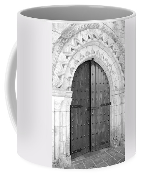 Wooden Doors Coffee Mug featuring the photograph Miami Monastery by Rob Hans