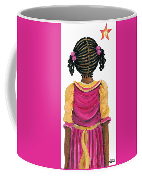 Coffee Mug featuring the painting Lele by Sonja Griffin Evans