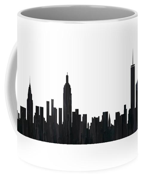 New York New York Skyline Coffee Mug featuring the digital art New York New York Skyline by Marlene Watson