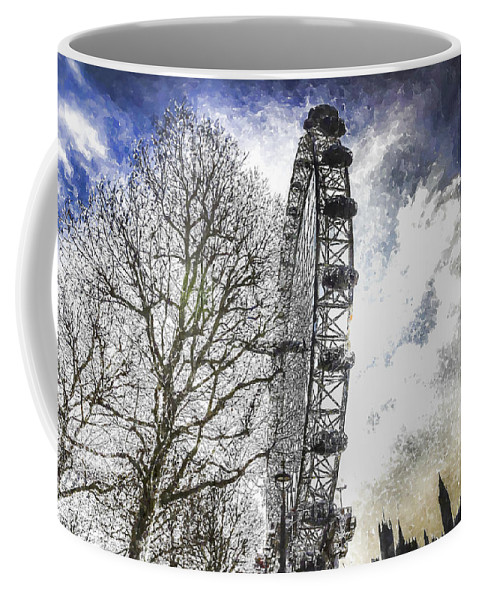 Snow Coffee Mug featuring the photograph The London Eye Art by David Pyatt