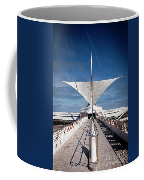 Milwaukee Coffee Mug featuring the photograph 1273 Milwaukee Museum Of Art by Steve Sturgill