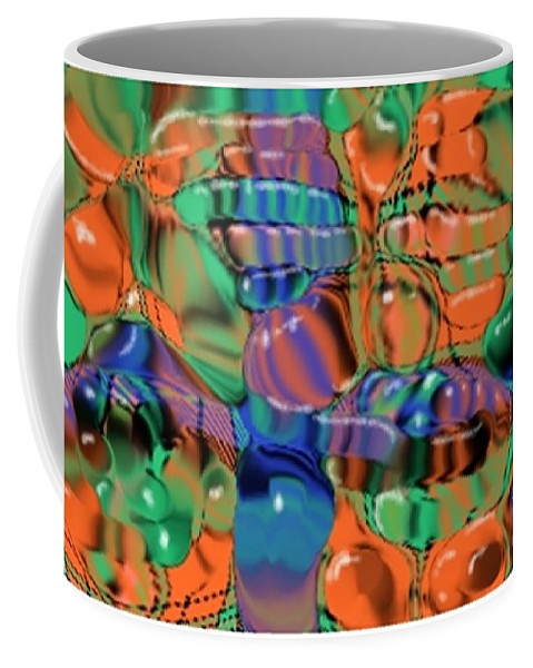 Abstract Coffee Mug featuring the digital art 1297exp1 by Ron Bissett
