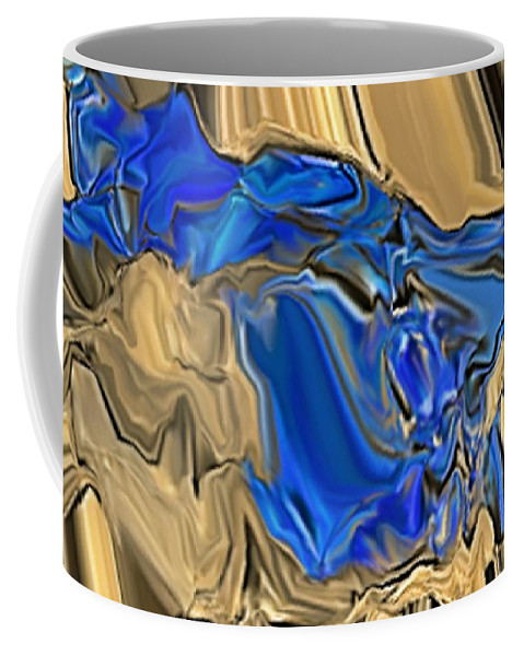 Abstract Coffee Mug featuring the digital art 1297exp6 by Ron Bissett