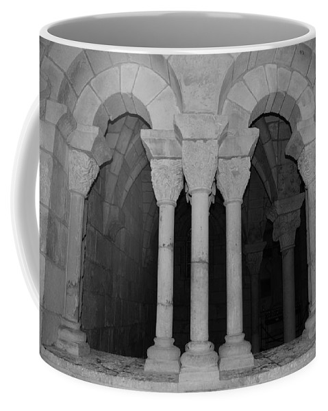 Black And White Coffee Mug featuring the photograph Miami Monastery by Rob Hans