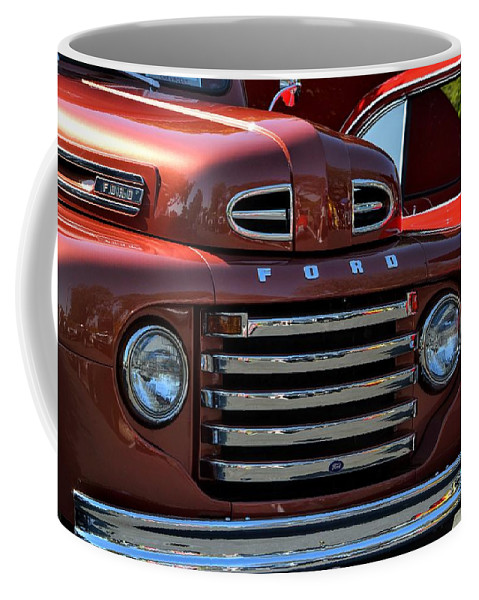 Red Coffee Mug featuring the photograph Classic Ford Pickup by Dean Ferreira