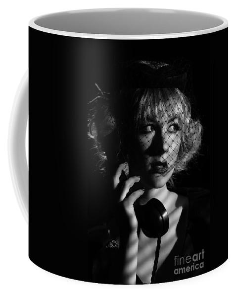 Hollywood Coffee Mug featuring the photograph Film Noir by Amanda Elwell