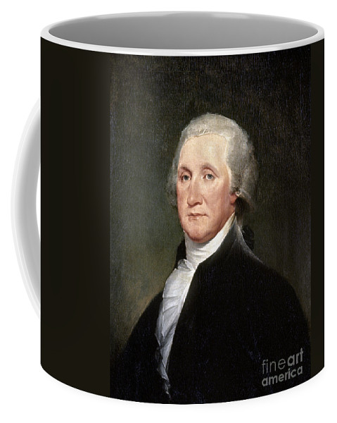 1793 Coffee Mug featuring the photograph George Washington by Granger