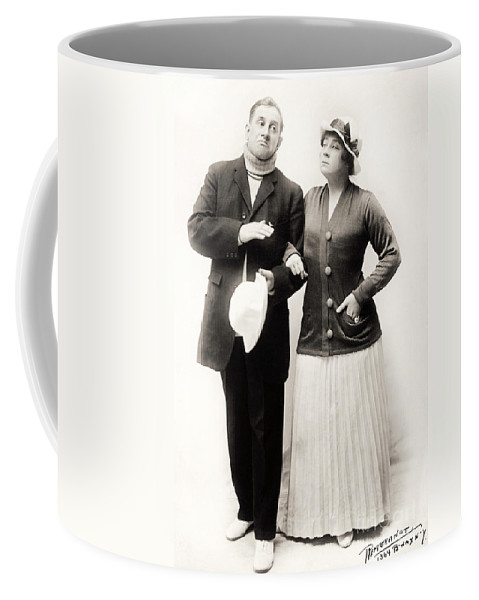 -couples- Coffee Mug featuring the photograph Silent Film Still: Couples by Granger