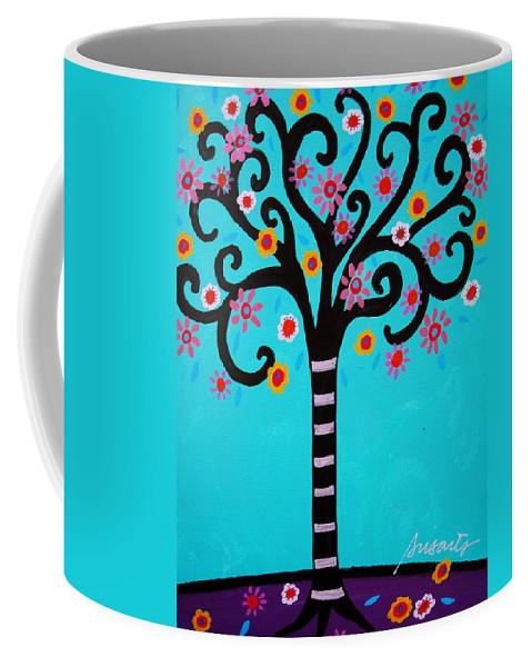 Trees Coffee Mug featuring the painting Tree Of Life by Pristine Cartera Turkus