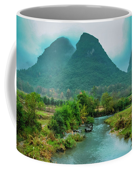 Countryside Coffee Mug featuring the photograph Beautiful Countryside Scenery In Autumn by Carl Ning