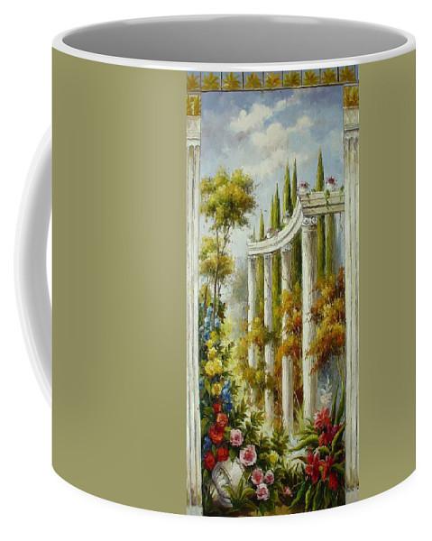 Castles Coffee Mug featuring the painting Italian Historical Villas by Lucio Campana
