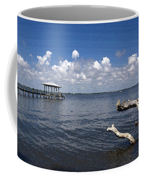 Driftwood Coffee Mug featuring the painting Indian River Lagoon by Allan Hughes