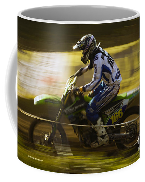 Bike Coffee Mug featuring the photograph Motocross by Angel Ciesniarska