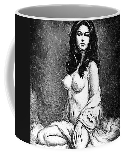 Pinups Coffee Mug featuring the digital art Pinup by ReInVintaged