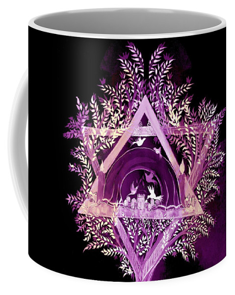 David Star Coffee Mug featuring the digital art David Star by Sandrine Kespi