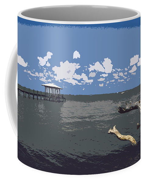 Lagoon Coffee Mug featuring the painting Indian River Lagoon by Allan Hughes