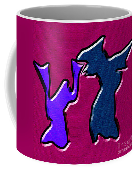 Abstract Coffee Mug featuring the digital art 1771 Abstract Thought by Chowdary V Arikatla