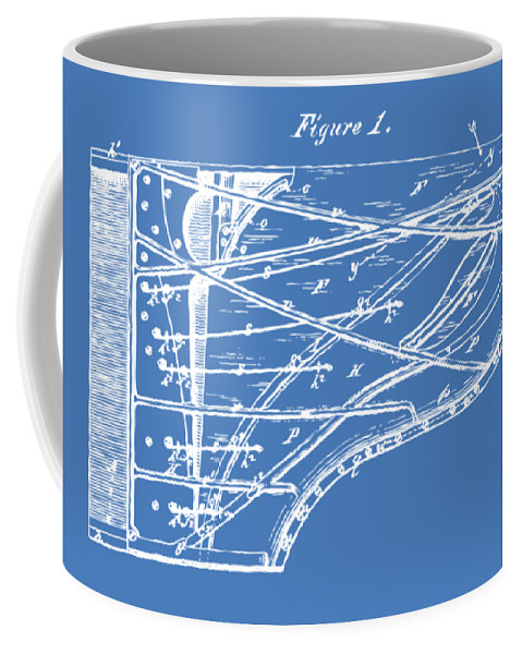 1880 steinway piano forte patent blueprint coffee mug for sale by front right view malvernweather Gallery