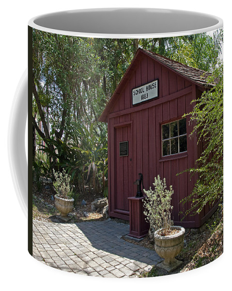 Little Coffee Mug featuring the photograph 1883 Little Red Schoolhouse by Allan Hughes