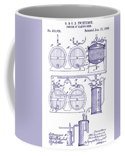 1893 beer manufacturing patent blueprint coffee mug for sale by jon beer coffee mug featuring the photograph 1893 beer manufacturing patent blueprint by jon neidert malvernweather Images