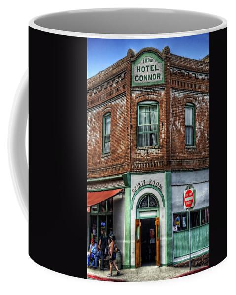 Hotel Connor Coffee Mug featuring the photograph 1898 Hotel Connor - Jerome Arizona by Saija Lehtonen