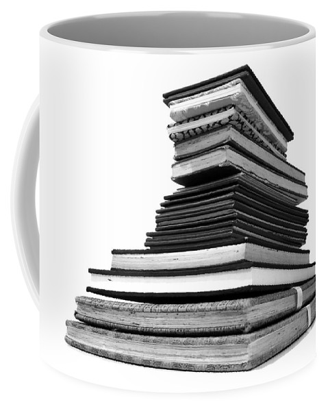 Fold Out Sketch Books Coffee Mug featuring the photograph 1.8.stack-of-sketch-books by Charlie Szoradi
