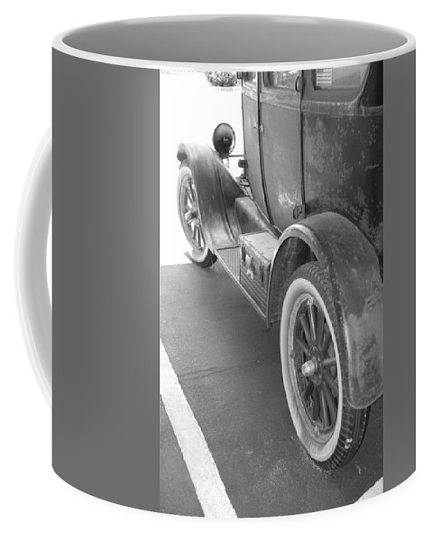 Black And White Coffee Mug featuring the photograph 1926 Model T Ford by Rob Hans
