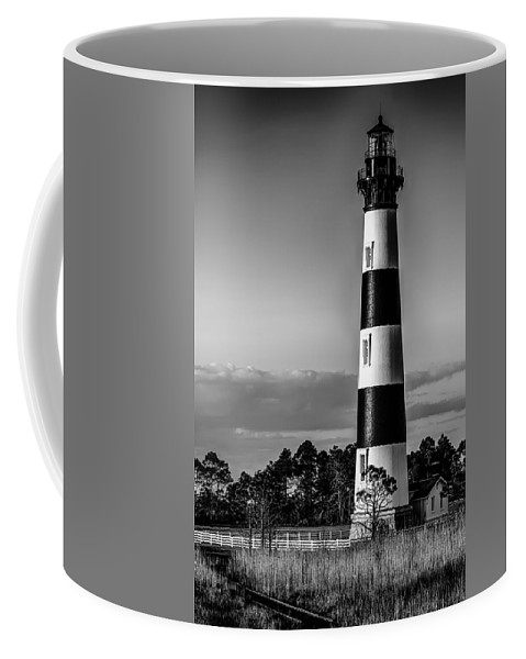 Architecture Coffee Mug featuring the photograph Bodie Island Lighthouse Obx Cape Hatteras North Carolina by Alex Grichenko