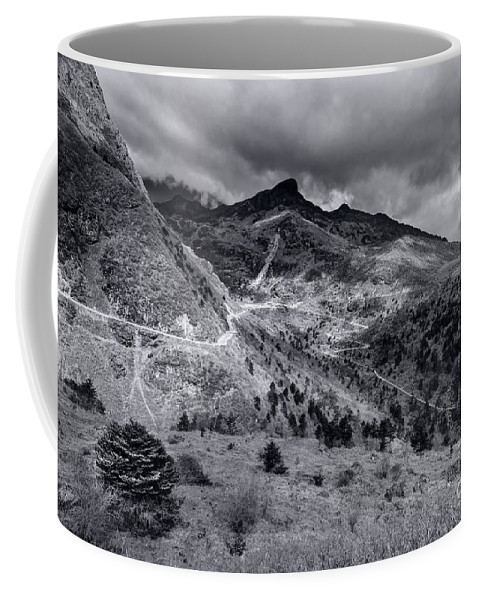 Sikkim Coffee Mug featuring the photograph Curvy Roads Silk Trading Route Between China And India by Rudra Narayan Mitra