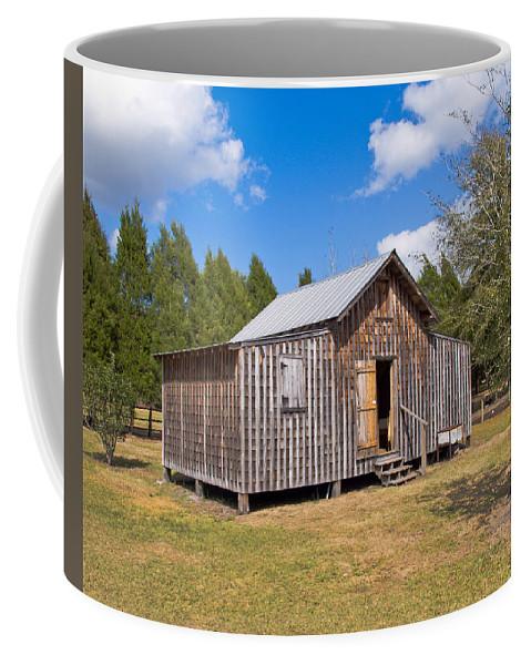 Cabin Coffee Mug featuring the photograph 1905 Florida Wheeler Board And Batten House by Allan Hughes
