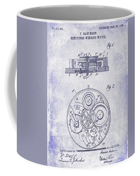 1908 pocket watch patent blueprint coffee mug for sale by jon neidert front right view malvernweather Gallery