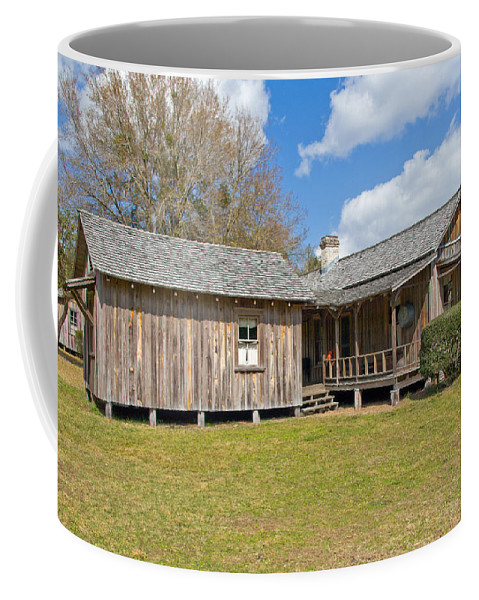 Cabin Coffee Mug featuring the photograph 1912 Simmons Farm In Christmas Florida by Allan Hughes