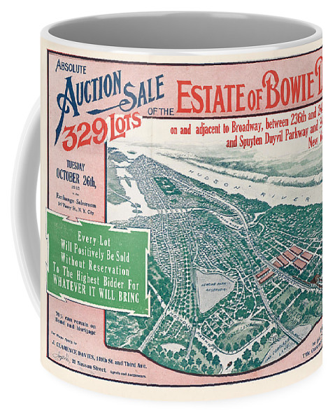 New York City Coffee Mug featuring the photograph 1915 Bronx Lots Sale Flyer by Rospotte Photography