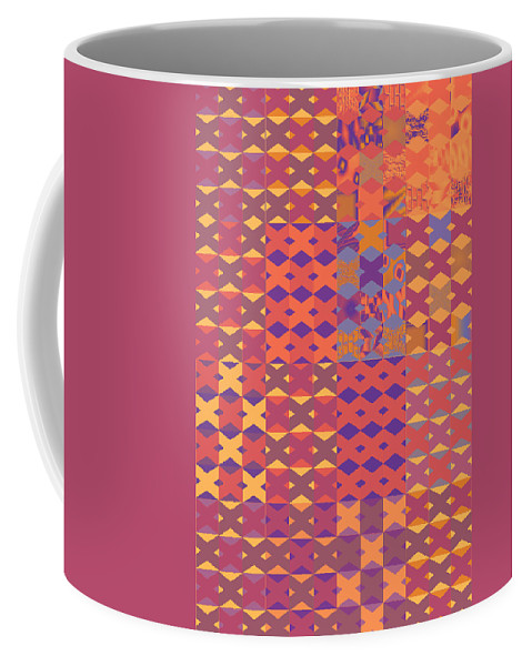 Abstract 192 X's 3 Coffee Mug featuring the digital art 192 X's 3 by John Saunders