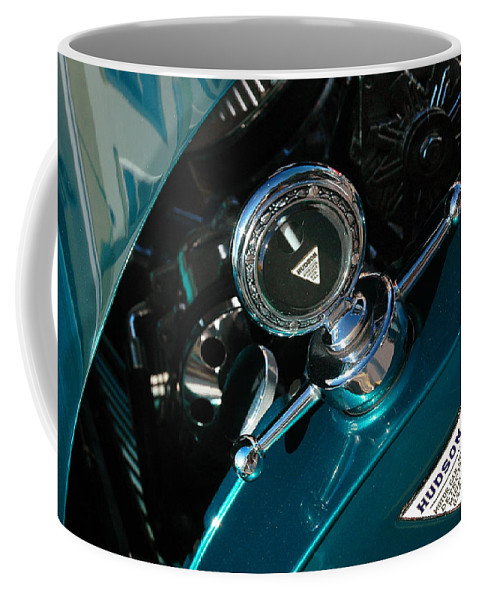 Car Shows Coffee Mug featuring the photograph 1924 Hudson Hood Ornament by Ginger Wakem