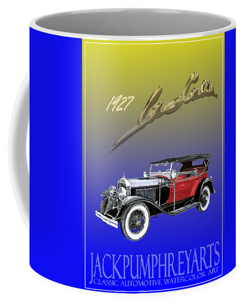 Posters Of Early Classic Luxury Cars From The Nineteen Twentys. Posters Of Classic Automotive Art. Car Posters By Jack Pumphrey Coffee Mug featuring the painting 1927 Lasalle by Jack Pumphrey