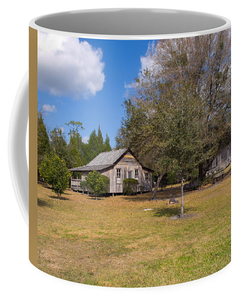 Cabin Coffee Mug featuring the photograph 1927 Woods Home In Christmas Florida by Allan Hughes