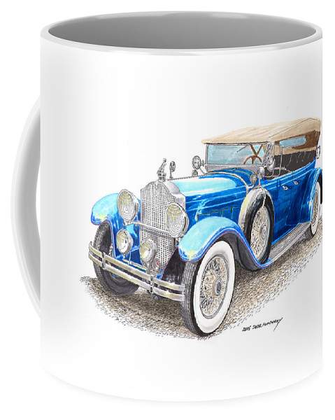 Fine Art Prints Of Classic 1929 Packard Dual Cowl Phaeton Coffee Mug featuring the painting 1929 Packard Dual Cowl Phaeton by Jack Pumphrey