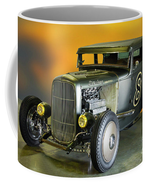 Auto Coffee Mug featuring the photograph 1930-31 Ford 'lakester' Coupe II by Dave Koontz