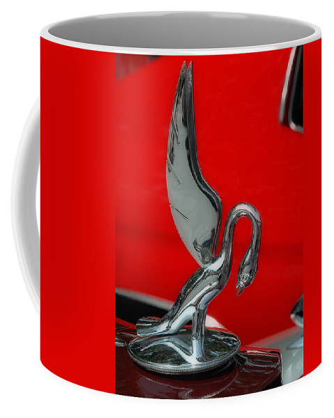 Car Show Coffee Mug featuring the photograph 1933 Packard Goose Hood Ornament by Ginger Wakem