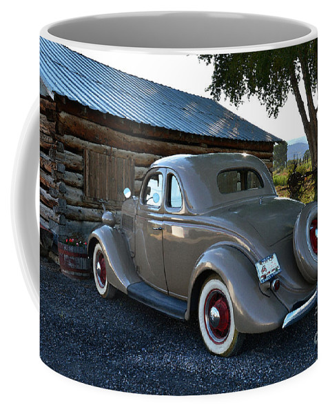 1935 Coffee Mug featuring the photograph 1935 Ford Coupe by Catherine Sherman