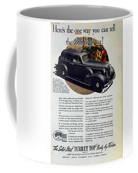 1936 Buick Century Coffee Mug featuring the photograph 1936 Buick Century Classic Ad by Allen Beilschmidt