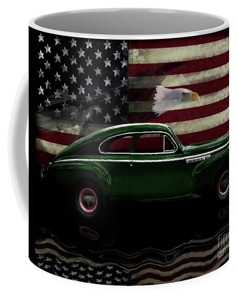1941 Buick Century Fastback Coffee Mug featuring the photograph 1941 Buick Century Tribute by Peter Piatt