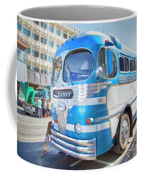Greyhound Coffee Mug featuring the photograph 1946 Greyhound by Theresa Tahara