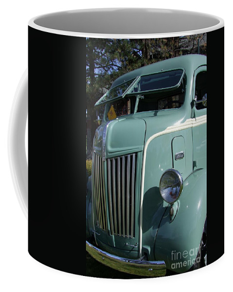 1947 Ford Cab Over Truck Coffee Mug featuring the photograph 1947 Ford Cab Over Truck by Mary Deal