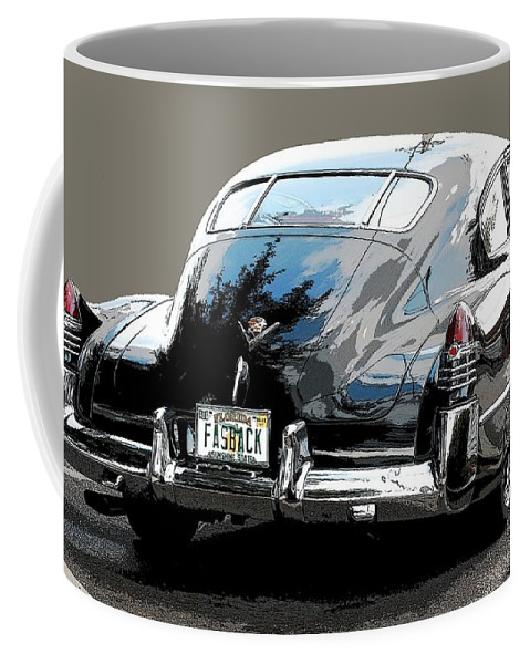 1948 Cadillac Coffee Mug featuring the photograph 1948 Fastback Cadillac by Robert Meanor